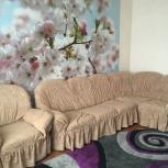 Угловой диван с креслом в хорошем состоянии, Новосибирск