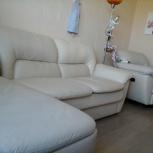 Кожанный диван и кресло, Новосибирск