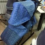 Санки-коляска эми (синие/голубые), Новосибирск