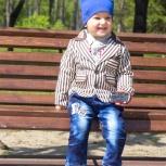 Солидный костюм в полоску для мальчиков от 2-х до 4-х лет, Новосибирск