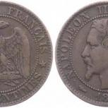 Франция 5 сантимов 1853, Новосибирск
