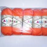 Пряжа ALIZE 'Bella' 50гр. 180м.  100% хлопок (Оранжевый), Новосибирск