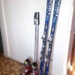 Горные лыжи Head + ботинки горнолыжные Salomon + палки, Новосибирск