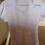 Блузка молочного цвета на 7-8 лет, Новосибирск