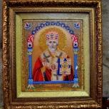 Продам икону из бисера николай чудотворец, Новосибирск