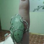 Дизайнерское кольцо с натуральным камнем, Новосибирск