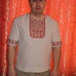 Мужская льнаная рубаха, Новосибирск