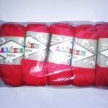 Пряжа ALIZE 'Bella' 50гр. 180м.  100% хлопок (Красный), Новосибирск
