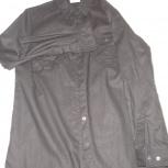 Продам  женскую рубашку в ОТС, цвет черный без блеска, Новосибирск