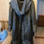 Шуба из меха нутрии(палантин в подарок), Новосибирск