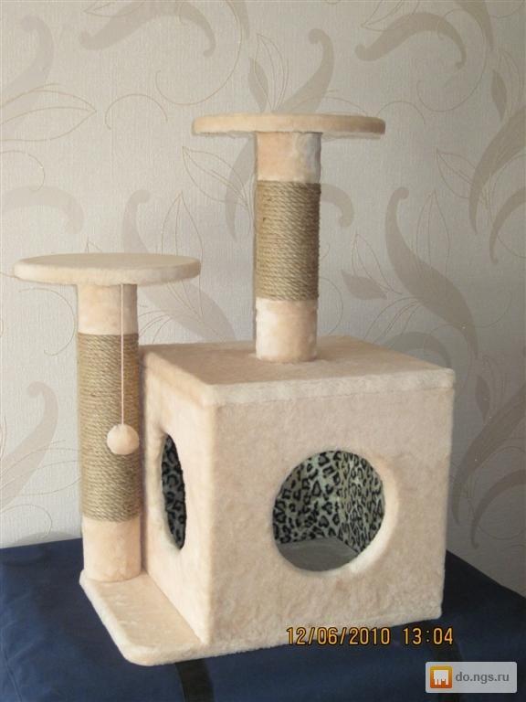 Домик и когтеточка для кошек своими руками пошагово