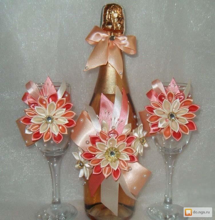 Свадебный набор своими руками из канзаши 70