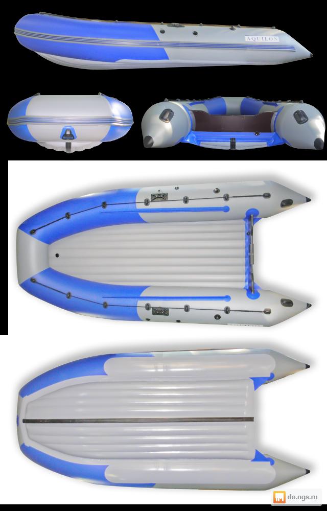 надувная моторная лодка пвх с надувным днищем