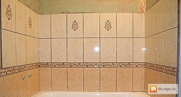 Как уложить плитку в ванной узором