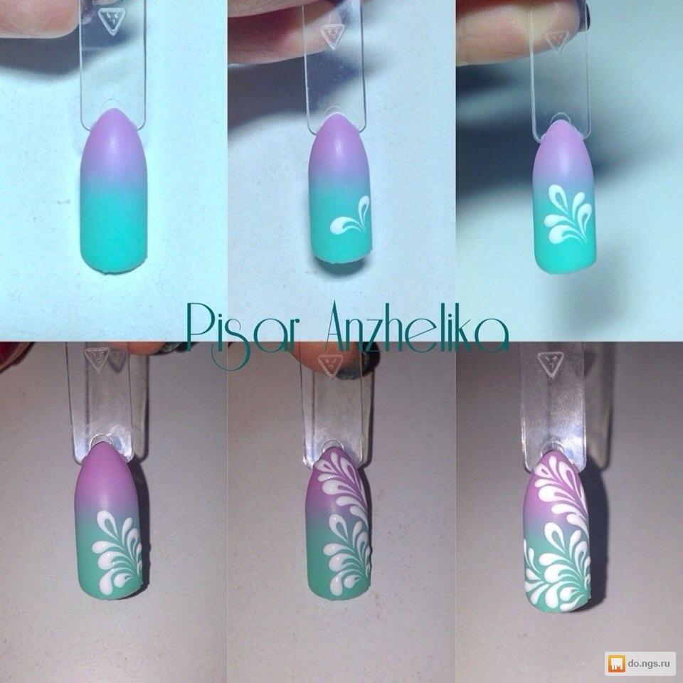 Пошаговый дизайн ногтей фото