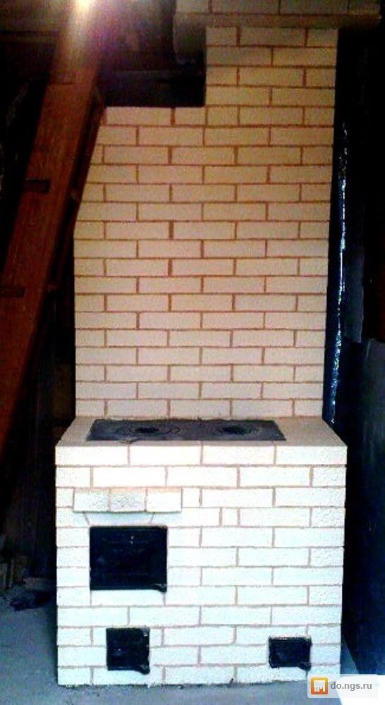 маленькая печь из кирпича для дачи схема