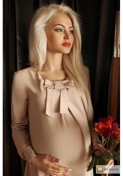 Платье для беременных с бантом