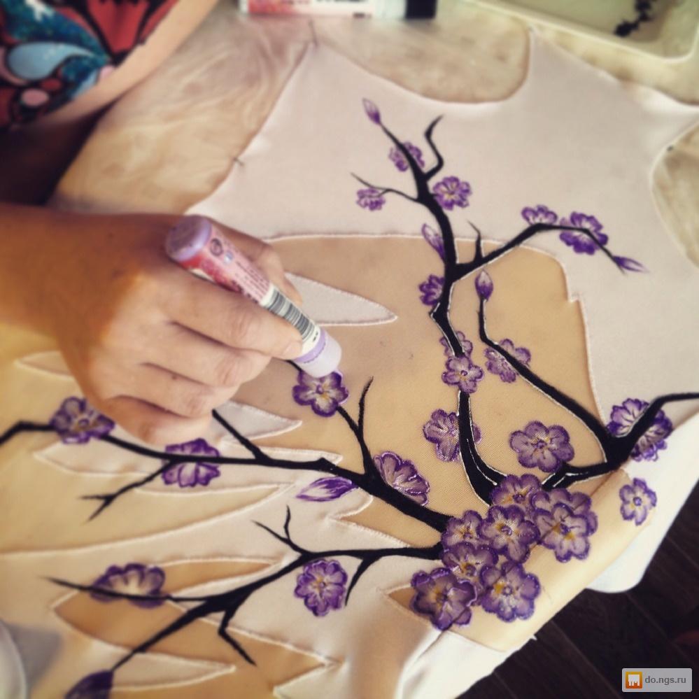 Мастер-класс видео роспись на ткани