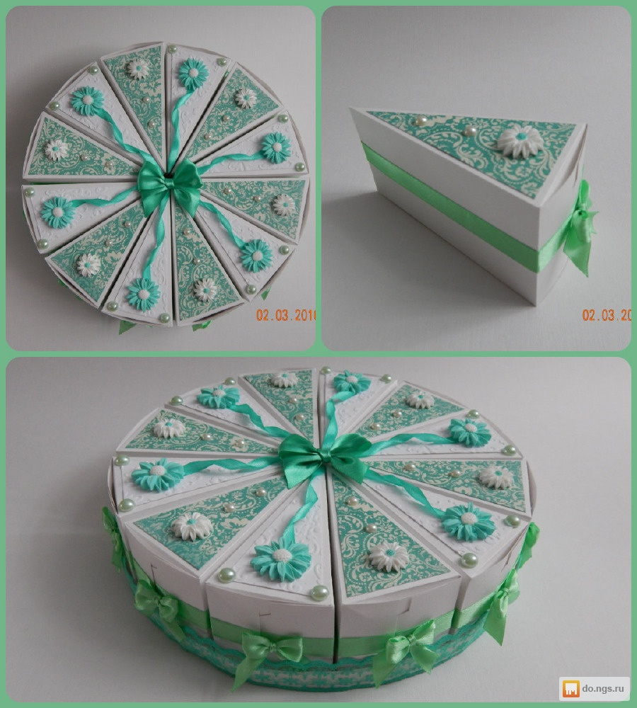Картонный торт с пожеланиями своими руками 57