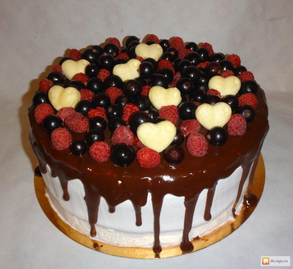 Рецепт торта из свежих фруктов
