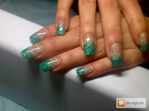 Ногти гель с блестками