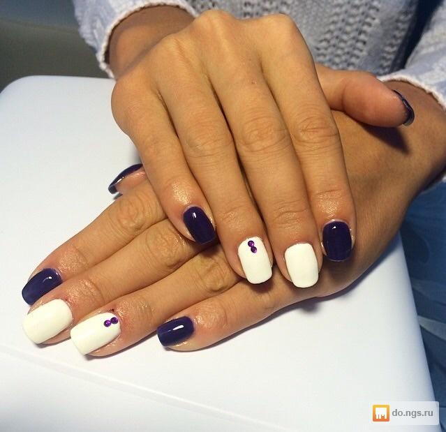 Шеллак дизайн ногтей темный