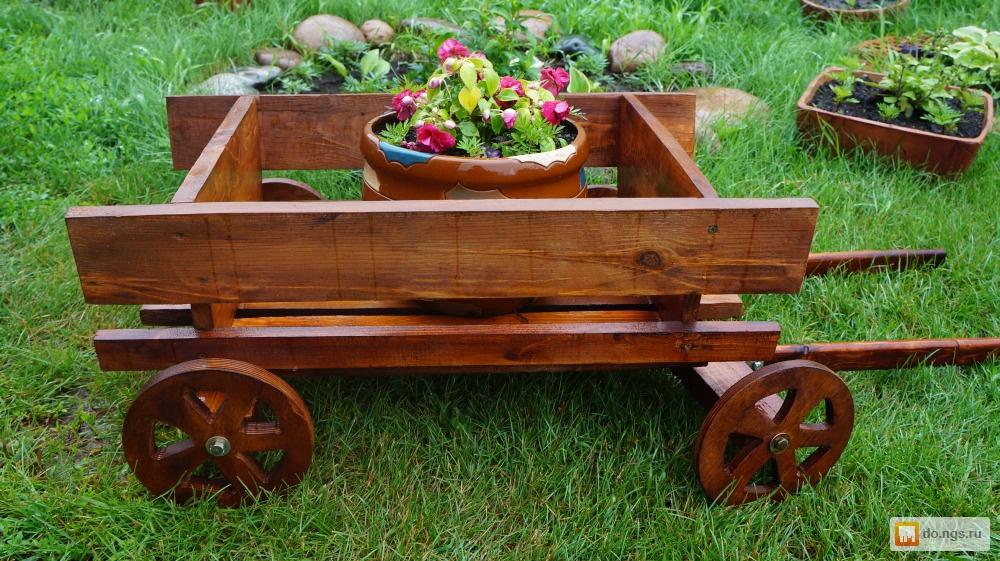 Как сделать своими руками декоративную телегу для сада своими руками 69