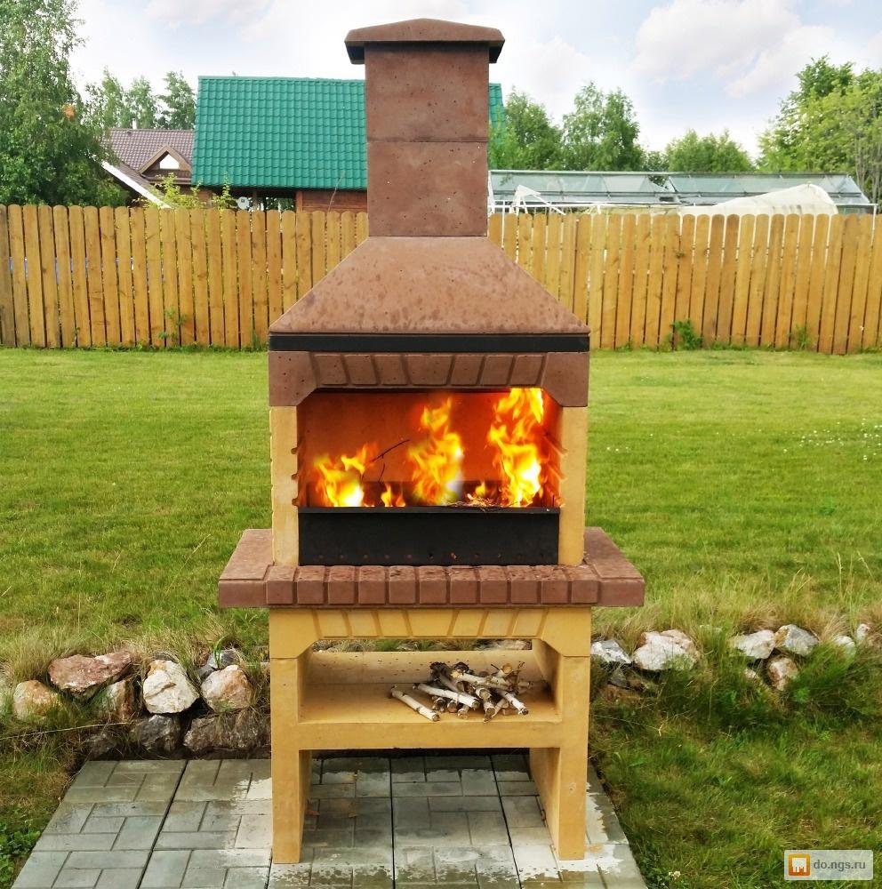 Многофункциональная, компактная уличная печь-мангал 31