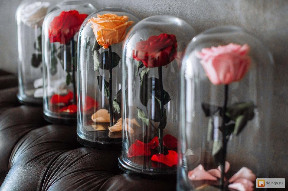 Сделать розу в колбе