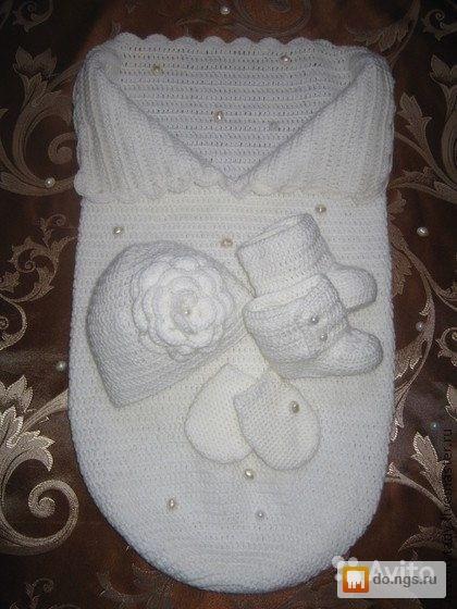 Шапочка на выписку новорожденному своими руками