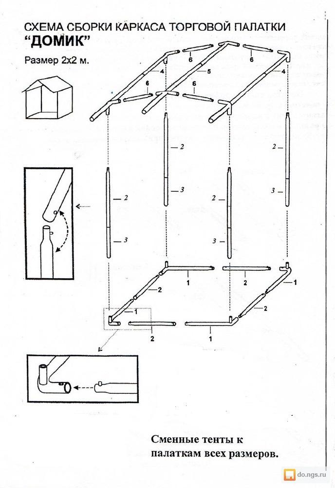 Как сделать палатку торговую
