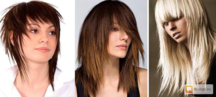 прически рваные на средние длину волосы