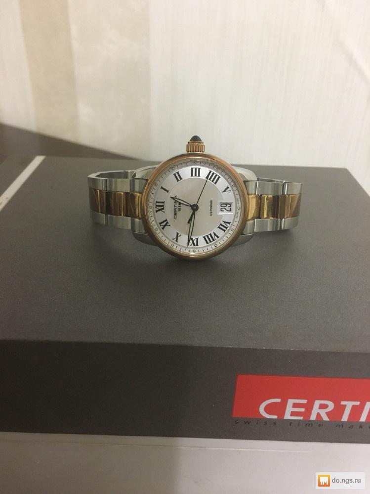 Стильные мужские часы Philip Persio с датой и днем недели