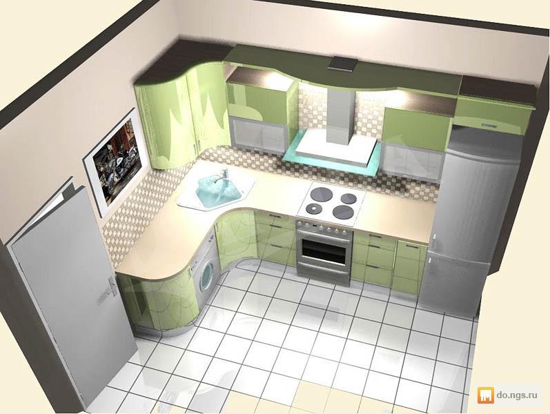 Дизайн кухни 7 квадратов