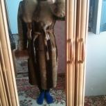 Шуба мутон с песцовым воротником., Новосибирск