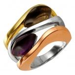 Серебряное кольцо AS с ониксом и фианитами, Новосибирск