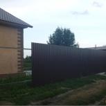 Заборы. Заборы из профнастила. Ворота, калитки. Профлист, Новосибирск