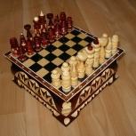 Шахматы резные шкатулка 18х18, Новосибирск