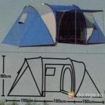 Продам 4-х местную палатку высота 180 см новая, Новосибирск