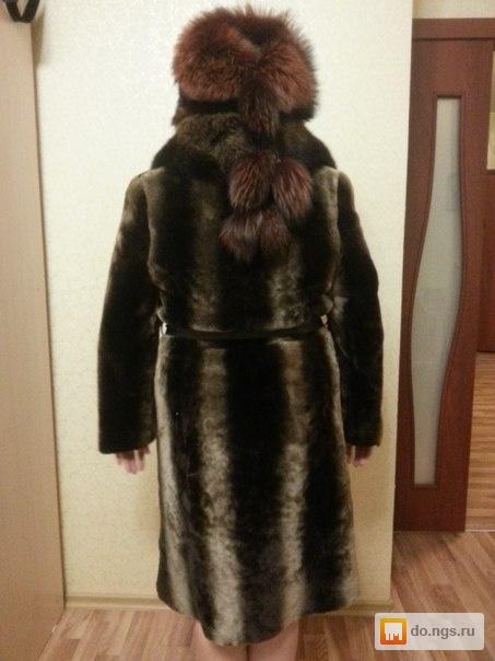 Куртка натуральная кожа и шикарнейший мех из чернобуркисостояние новой!демисезонная размер 42-44 возможно и на 46