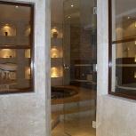 Дверь из закаленного стекла для туалетных и ванных комнат (м2), Новосибирск