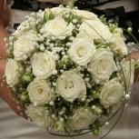 лепестки роз в подарок при заказе букета невесты, Новосибирск