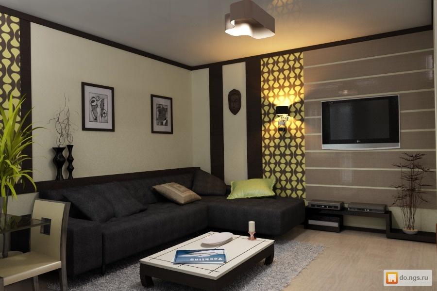 Недорогой дизайн гостиной фото