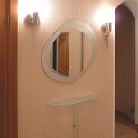 Декорированное зеркало и туалетная полочка из стекла (м2), Новосибирск