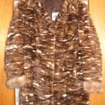 Продам женскую норковую шубу, бело-коричневого цвета, с манжетами, Новосибирск