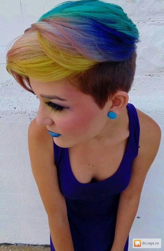 яркие прически на средние волосы