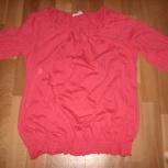 Продам блузку для беременной красного цвета, р. 44-46, новая, Новосибирск