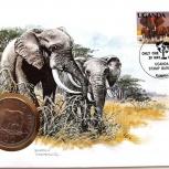Танзания 100 шиллингов 1986 Слон, Новосибирск
