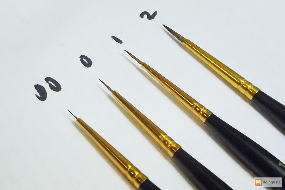 кисти для дизайна ногтей: