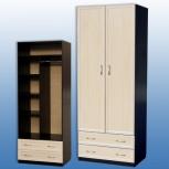 Шкаф для платья и белья 2-дверный! новый! доставка! сборка!, Новосибирск